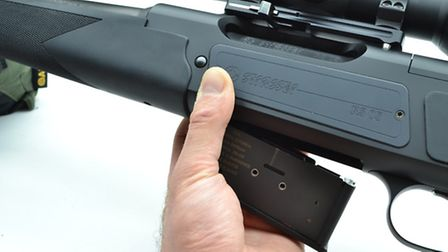 Twin mag release button are delightful and force you to have your hand in exactly the right spot to