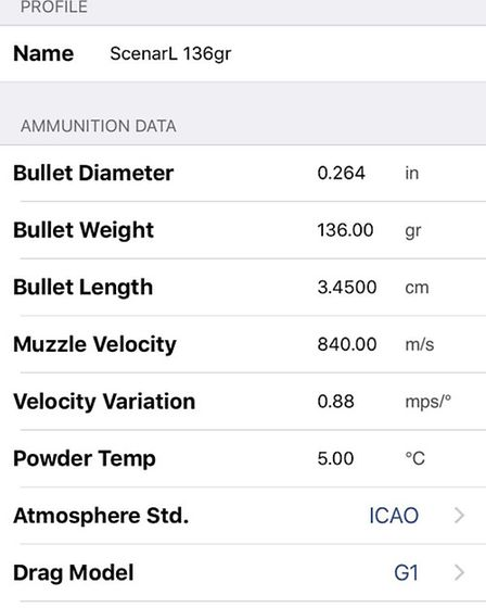 In the Shooter Ballistics app, you enter your data under Velocity Variation