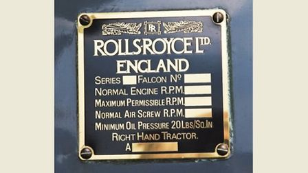 For the Rolls-Royce Falcon III V12 engine