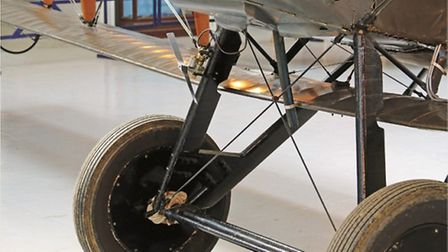 Odd looking gap between the lower wing and fuselage is a consequence of the decision to mount the up