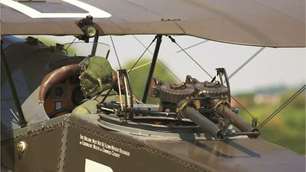 The twin Lewis guns — a powerful sting in the tail by WWI standards