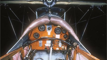 With all its woodwork and Edwardian fittings — including a brass light switch — this is a pilot's 'o