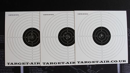 These are the targets for the .22. I wasnt expecting to get results as good as this