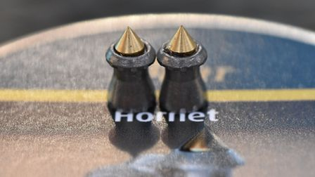 The brass tip of the Hornet stayed in place on impact