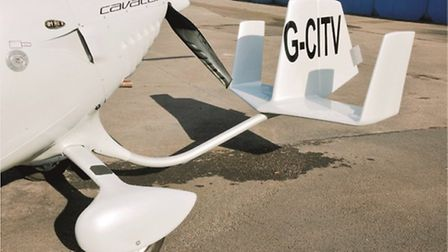 Tailplane and rudder are mounted on a steel-tube boom