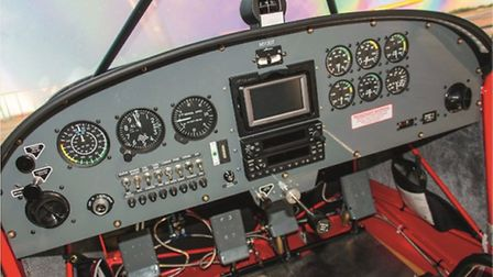 While the almost all-analogue instrument panel may look 'retro' in 2016, it is right for this aeropl