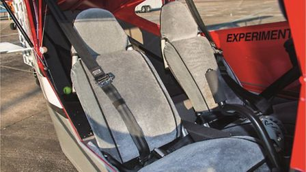 Seats are just as comfortable as they look, and slide back and forth on inclined rails