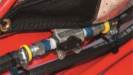 Black fuel valve lever really ought to be colour-coded red — and better located