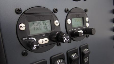 Many owners will be replacing their radios with modern 8.33 units like the Trig TY91 (left)