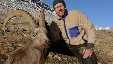 Rob and his very first ibex