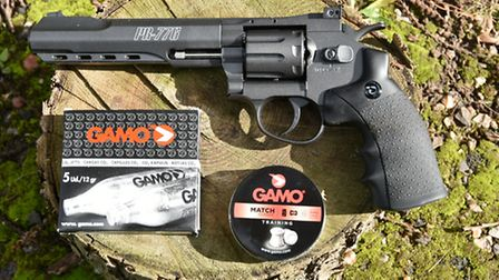Gamo supplied the gas and some ideal pellets too