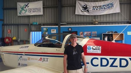 Jeremy Rowsell with his Van's RV-9
