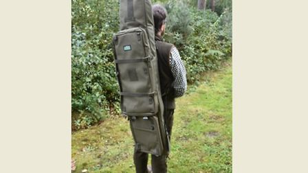 Shoulder straps allow you to carry the Super Gunbag like a rucksack