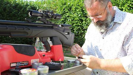 Four rifles and more than 40 kinds of pellet