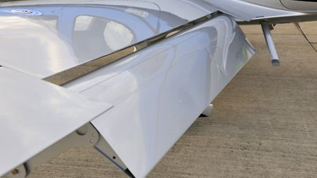 Flap extension has been increased by 3.5° to improve landing characteristics