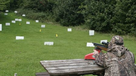 On a good HFT zero range, you can accuracy test out to 45 yards