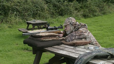 Resting a spring airgun on cushions allows it to move consistently in recoil for pellet testing