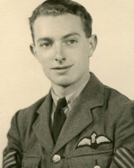 Sergeant Pilot Russell Waughman at the time of his first raid to Berlin