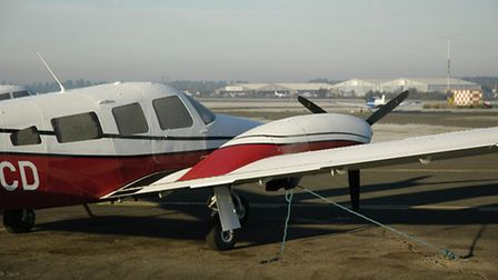 How secure are your tie-downs? In a strong wind a typical light aircraft wing can generate lift meas