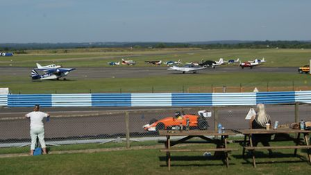 Most spectators are here to see friends or relatives drive racing cars around the circuit