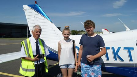Western Airs Barry Ward is taking Livia and Aaron Foulds to Henstridge and Compton Abbas, then back