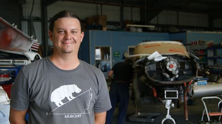 Ben Faulkner owns Aerofab, a maintenance company based on the airfield that has 45 aeroplanes on its