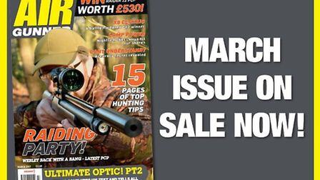 Get the March issue of Air Gunner now!