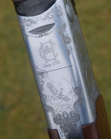 C&H windsor game gun test The action of the test gun has gold inlays which are lifelike and compete