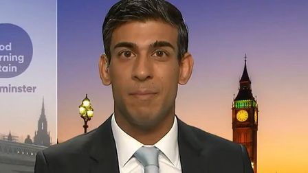 Rishi Sunak on Good Morning Britain. Photograph: ITV.