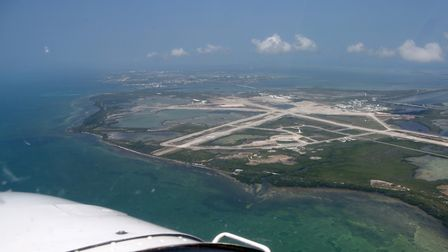 Passing abeam the US Navy Base on Boca Chica Key, with Key West International already in sight ahead