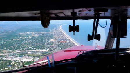 Coasting out over Jacksonville Beach, Florida