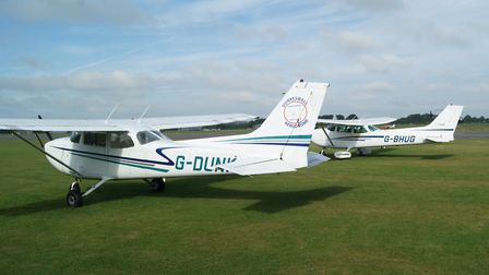 Two of the seven Cessnas in the Devon and Somerset Flight Training fleet