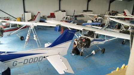 Flymoore Aircraft Engineering is primarily a respray and restoration company, but this is its mainte