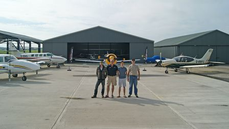 AT Aviation with some of the aircraft it currently has for sale; note new hangar currently under con
