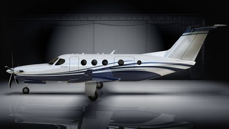 The Denali has a stylish T-tail and luxury interior CREDIT: Photo: Textron