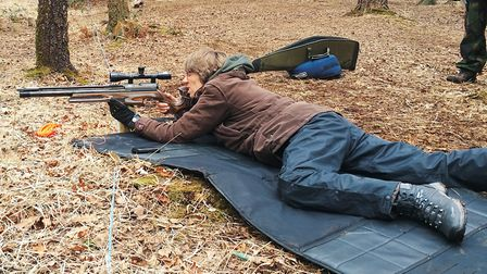 Jill Cochrane, another top lady shooter with her HFT-500