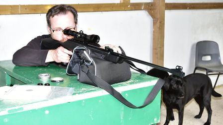With my trusty range dog Georgie watching on, I studied the acuracy potential.