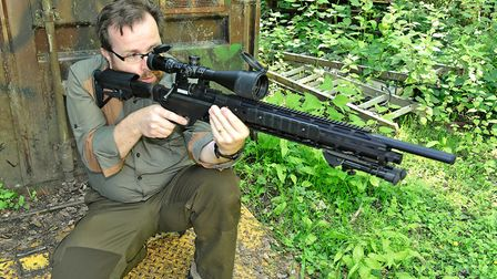 This is a big rifle with its balance point a long way forward