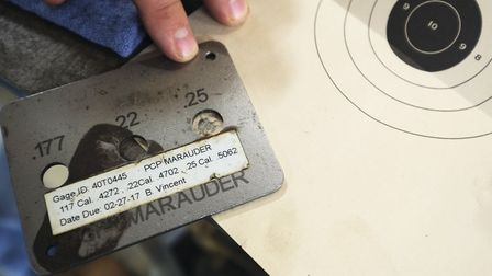 After test-firing, each test target is compared against a standard template to ensure accuracy