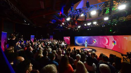 BBC Question Time Leaders' Special. Photograph: Jeff Overs/PA Wire.