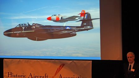Speakers at last years sell-out: HAA Symposium included historic jet pilot Dave Southwood PHOTO: PH