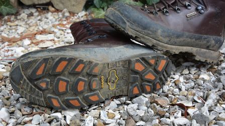 9. A good open tread to shed mud kept your feet lightweight crossing wet ground