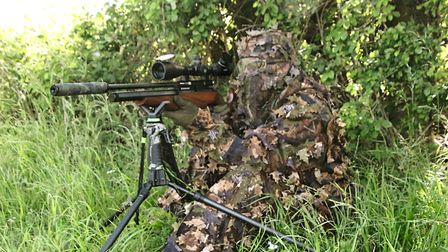 The LLCS ghillie suit helps break up my outline