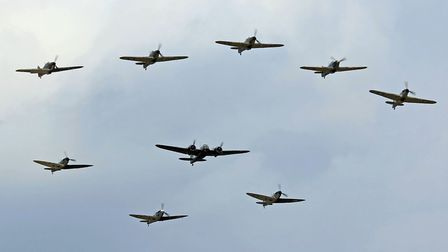 The unique Battle of Britain formation PHOTO: John Dunnell