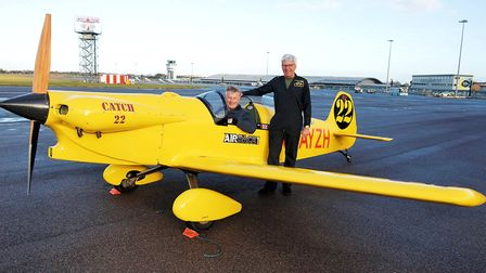 JT.2 Titch designer's son Terry Taylor and Trevor Jarvis Southend Airport, Southend 50th anniversary