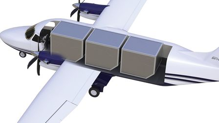 The SkyCourier in cargo carrying configuration PHOTO: Textron Aviation]