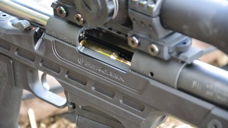 rsh nov gun test 15. Push feeding bolt strips rounds from the single column magazine and will also