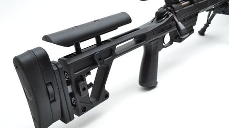 rsh nov gun test 2. The chassis shows great versatility with extensive length of pull, recoil pad a