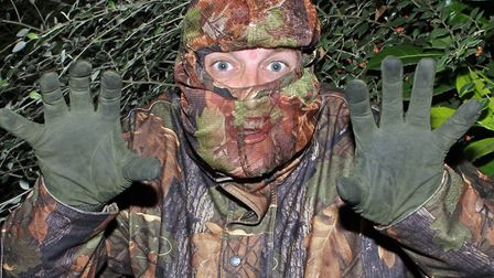 Full camo was in order so Dave could lurk in the field unnoticed