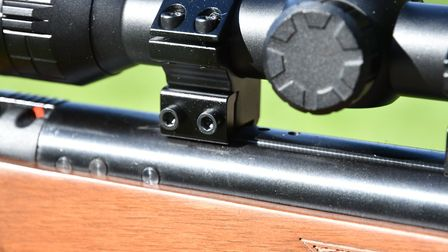 I removed the recoil arrestor plate so that I could move the scope rearwards